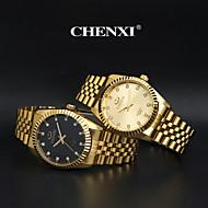 Masculino Relógio Elegante / Relógio de Moda / Relógio de Pulso Quartzo Japonês imitação de diamante Aço Inoxidável Banda Dourada marca