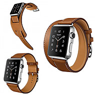 Fashion Cow Leather Classic Band with Metal Buckle Strap for Iwatch 38mm 42mm Double Tour and Cuff