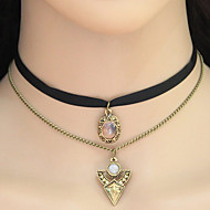Women's Choker Necklaces Pendant Necklaces Collar Necklace Tattoo Choker Fabric Alloy Geometric Tattoo Style Euramerican Bronze Jewelry