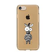 Para Transparente / Diseños Funda Cubierta Trasera Funda Animal Suave TPU para AppleiPhone 7 Plus / iPhone 7 / iPhone 6s Plus/6 Plus /