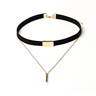 Necklace Non Stone Choker Necklaces / Layered Necklaces Jewelry Birthday / Engagement / Party / Daily / Casual /CircleBasic
