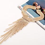女性 チョーカー ジュエリー 合金 模造ダイヤモンド ジュエリー タッセル シルバー ゴールデン ジュエリー パーティー 日常 カジュアル 1個