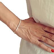 Dame Strand Armbånd Unikt design Mode Perler Håndlavet Perle Smykker Guld/Hvid Smykker For Fest Daglig Julegaver 1 Stk.