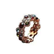 반지 일상 / 캐쥬얼 보석류 합금 / 라인석 여성 문자 반지 1PC,8 여러 색상