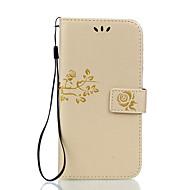 For Pung Kortholder Med stativ Flip Præget Etui Heldækkende Etui Blomst Hårdt Kunstlæder for LGLG K10 LG K7 LG G5 LG G4 LG V20 LG X Power