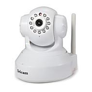 Sricam 1.0 MP Innendørs with IR-kutt 128G(Dag Nat Bevegelsessensor Fjernadgang Wi-Fi Beskyttet Setup Plug and play) IP Camera
