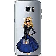 Varten Ultraohut Läpinäkyvä Kuvio Etui Takakuori Etui Seksikäs nainen Pehmeä TPU varten Samsung S7 edge S7 S6 edge plus S6 edge S6