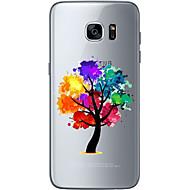 Na Ultra cienkie Przezroczyste Wzór Kılıf Etui na tył Kılıf Drzewo Miękkie TPU na Samsung S7 edge S7 S6 edge plus S6 edge S6