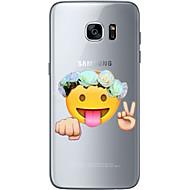 Para Ultra-Fina Transparente Estampada Capinha Capa Traseira Capinha Desenho Macia TPU para Samsung S7 edge S7 S6 edge plus S6 edge S6