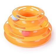 Juguete para Gato Juguetes para Mascotas Bola Interactivo Juguete con Bolas Plástico Naranja Verde