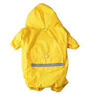 Dog Rain Coat Red Yellow Camouflage Color Dog Clothes Summer Spring/Fall Solid Cute Casual/Daily Waterproof