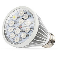 12w e27 / e14 / gu10 led grow lumières 12 LED haute puissance (8red 2blue de 1UV 1white) 290-330lm ca 85-265 v 1 pcs