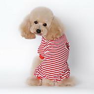 Perros Pijamas Rojo Ropa para Perro Invierno Primavera/Otoño Rayas Casual/Diario