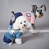 Kissat Koirat Haalarit Sininen Pinkki Koiran vaatteet Talvi 봄/Syksy Ruudullinen Rento/arki