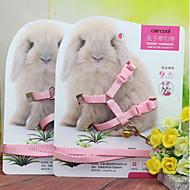 토끼 가죽끈 조절 가능한 핏 옷감 랜덤 색상