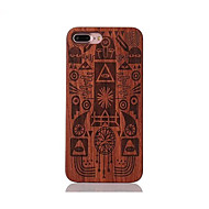 For Shockproof Embossed Pattern Case Back Cover Case Pharaoh Hard Rosewood and PC Combination for Apple iPhone 7 7 Plus 6s 6 Plus SE 5s 5