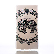 For Transparent Præget Mønster Etui Bagcover Etui Elefant Blødt TPU for Samsung A5(2016) A3(2016) A5 A3