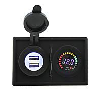12v geleid digitale display voltmeter en 4.2a usb adapter met huisvesting houder paneel voor auto boot truck rv