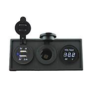 12v / 24v εξουσία charger3.1a θύρα USB και 12V μετρητή βολτόμετρο με οθόνη κάτοχο στέγασης για το σκάφος του αυτοκινήτου κατασκήνωση