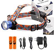 Pannlampor 2000 Lumen 3 Läge Cree XM-L T6 18650 Justerbar fokus Kompakt storlekCamping/Vandring/Grottkrypning Vardagsanvändning Cykling