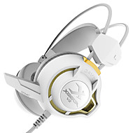 耳の上xiberia v3の振動ゲーミングヘッドフォンマイクの光ステレオヘッドセットのPCゲーマーコンピュータ超低音グローイヤホンを主導しました