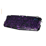 M - 200 Bilingual 3 Colors Backlight Wired Gaming Keyboard