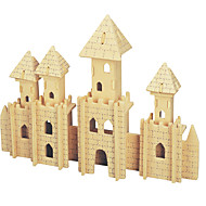 Jigsaw Puzzles DIY KIT Display Model Building Blocks 3D Puzzles Educational  Small Castle Wooden Puzzles Building Blocks DIY Toys