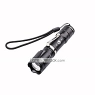 U'King ZQ-X1047B CREE XML T6 2000LM 5Mode SOS Zoomable Flashlight Torch with Clip
