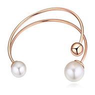 Dames Armbanden met ketting en sluiting Natuur Verstelbaar Open Parel Cirkelvorm Sieraden Voor