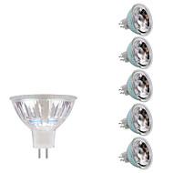 3W GU5.3(MR16) LED-spotpærer MR16 1 COB 230/240 lm Varm hvit Kjølig hvit DC 12 AC 12 V 6 stk.
