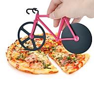 1 db Cutter & Slicer For Pizza Műanyag Rozsdamentes acél Jó minőség Kreatív Konyha Gadget