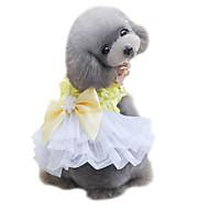 犬用品 ドレス タキシード 犬用ウェア 夏 蝶結び キュート 結婚式 ファッション イエロー ピンク