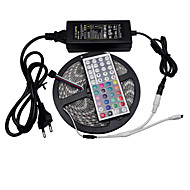 5m 300LED SMD 5050 rgb flexibele led strip waterproof 44keys ir rgb controller 12v 6a voeding