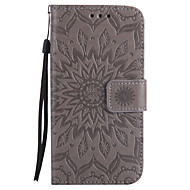 For Samsung Galaxy A5(2017) A3(2017) PU Leather Material Sun Flower Pattern Embossed Phone CaseA5(2016)A5A3(2016)A3