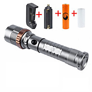 UKing ZQ-X905T6S-US Cree XM-L T6 2000LM 5Modes Focus Extend Flashlight Torch Kit with 2*18650 Battery and Charger Bike Holder