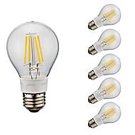 4W E26 LED Λάμπες Πυράκτωσης A60(A19) 4 COB 400/500 lm Θερμό Λευκό Ψυχρό Λευκό AC 110-130 V 6 τμχ