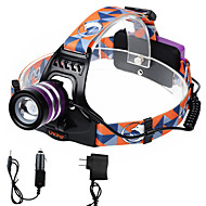 U'king ZQ-G70000BPurple CREE T6 LED 2000LM 3Mode Adjustable Focus Headlamp Bike Light for Camping/Hiking/Caving Everyday Use Cycling