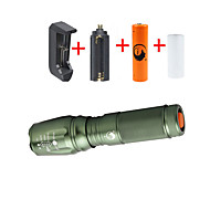 UKing ZQ-X800DG#-EU 2000LM Cree XM-L T6 LED 5Modes Zoomable Flashlight Torch Kits with 18650 and Battery Charger