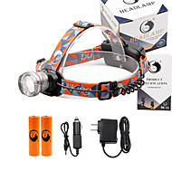 U'King® ZQ-X830S#1-EU CREE XML-T6 LED 2000LM Zoomable 180 Rotate 3Modes Headlamp Bike Light Kits with Rear Safety LED