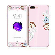 For Apple iPhone 7 Plus 5.5 Tempered Glass with Soft Edge Full Screen Coverage Front and Back Screen Protector Monkey Pattern