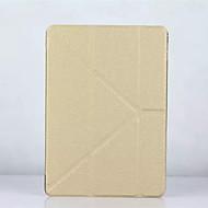 Para Com Suporte Capinha Corpo Inteiro Capinha Cor Única Rígida Couro PU para Apple iPad Air 2