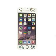 til Apple iPhone 7 plus 5,5 tommer hærdet glas med blød kant fuld skærm dækning foran skærmbeskytter tegneserie mønster