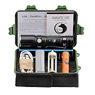 Valaistus LED taskulamput Taskulamppu-setit LED 2000 Lumenia 3 Tila Cree XM-L T6 18650 AAA 26650 Säädettävä fokus Leikata