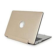 4 colores de la PU cuero estuche rígido portátil para el macbook de la retina 13,3 15,4 cáscara película de pantalla de la cubierta del