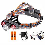 Pandelamper LED 5000 Lumen 4.0 Tilstand Cree XP-E R2 Cree XM-L T6 18650 Justerbart Fokus ZoombarCamping/Vandring/Grotte Udforskning