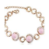 Dame Kæde & Lænkearmbånd Krystal Natur Perle Østrigsk krystal Cirkelformet Smykker Til
