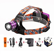 U'king ZQ-G70000Purple#-UK CREE T6 LED 2000LM 3Mode Adjustable Focus Headlamp Bike Light Kit for Camping/Hiking/Caving Everyday Use Cycling