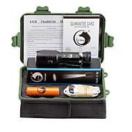 Valaistus LED taskulamput LED 2000 Lumenia 3 Tila Cree XM-L T6 18650 Säädettävä fokus ladattava LeikataTelttailu/Retkely/Luolailu