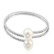 Dame Kæde & Lænkearmbånd Natur Mode Perle Cirkelformet Smykker Til