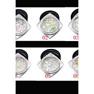 1 Nail Art-klistermärken Glitter & Puder makeup Kosmetisk Nail Art-design